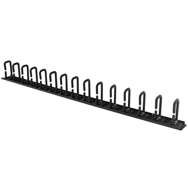 0u vertical cable organizer with d-ring hooks