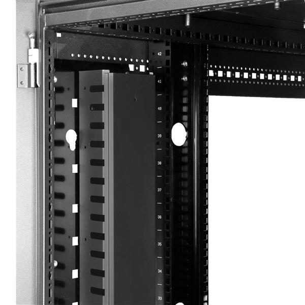 Rack Kabelmanager 1,8m 0U StarTech.com Vertikaler Kabelordner mit Finger Duct