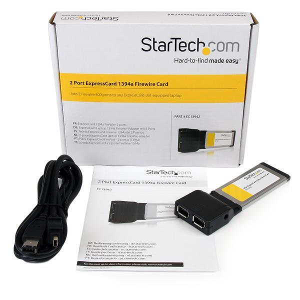 2 Port ExpressCard 1394a Firewire Card | FireWire Cards | StarTech ...