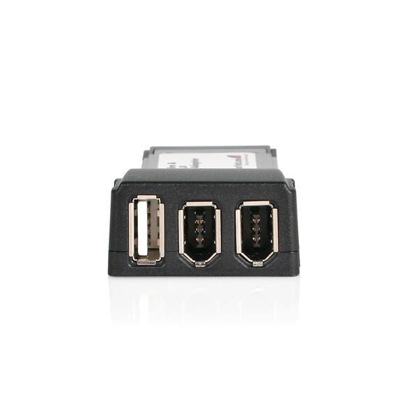 1x USB 2x 1394 ExpressCard Adapter Card | FireWire Cards | StarTech.com