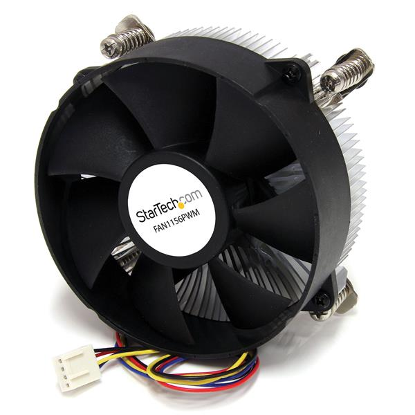 Large Image for 95mm CPU Cooler Fan with Heatsink for Socket LGA1156/1155 with PWM