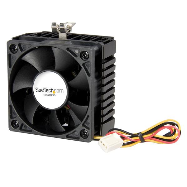 Large Image for 65x60x45mm Socket 7/370 CPU Cooler Fan w/ Heatsink & TX3 connector