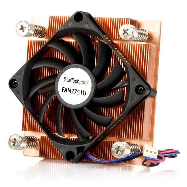 Large Image for 1U Low Profile 70mm Socket 775 CPU Cooler Fan w/ Heatsink & TX3