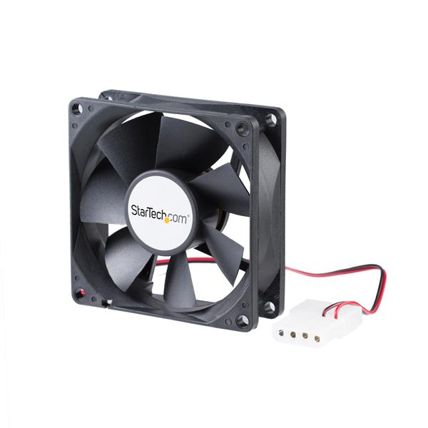 Large Image for 80x25mm Dual Ball Bearing Computer Case Fan w/ LP4 Connector