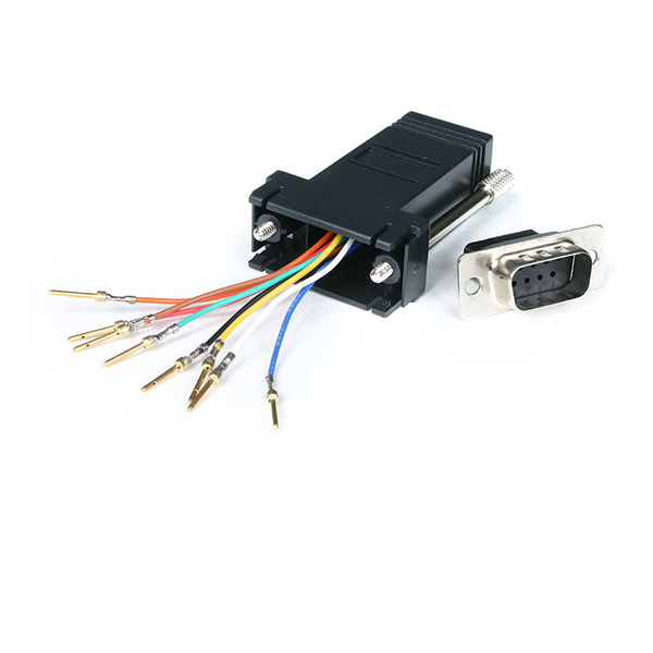 db9 to rj45 modular adapter m f serial adapters startech com convert your db9 female connector into an rj45 female connector
