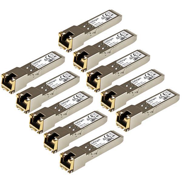 Cisco GLC-T Compatible SFP Transceiver Module - 1000BASE-T - 10 Pack