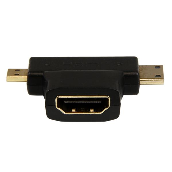 adaptateur combin hdmi vers hdmi mini ou hdmi micro c bles hdmi france. Black Bedroom Furniture Sets. Home Design Ideas