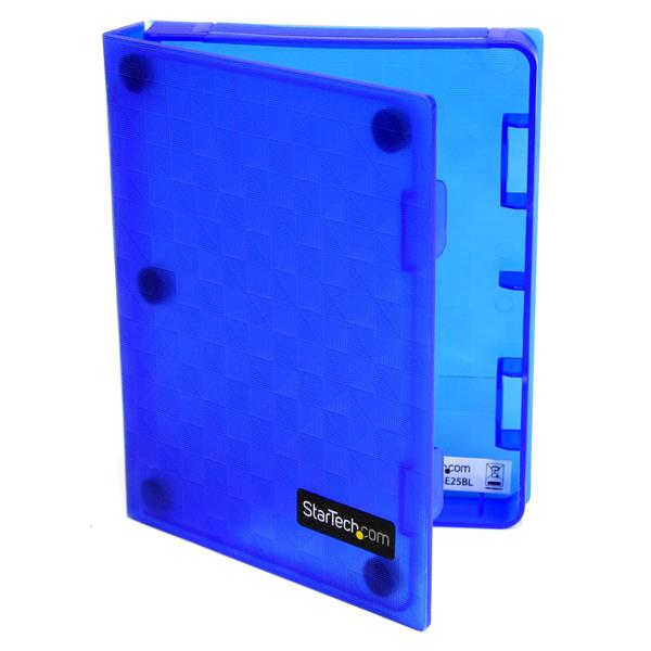 Large Image for 2.5in Anti-Static Hard Drive Protector Case - Blue (3pk)