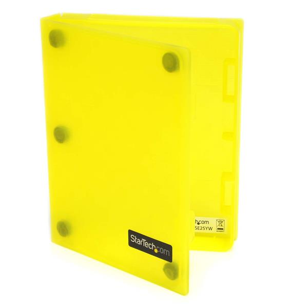 Large Image for 2.5in Anti-Static Hard Drive Protector Case - Yellow (3pk)