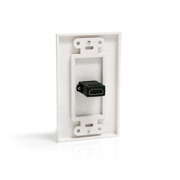 single outlet female hdmi wall plate white add an in wall hdmi