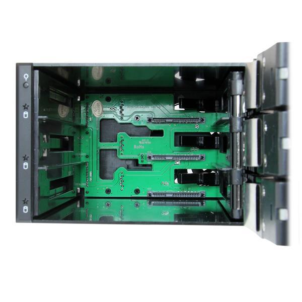 Hot Swap Mobile Rack for 3 5.25in Bays StarTech 4 Bay 3.5in SATA SAS Backplane