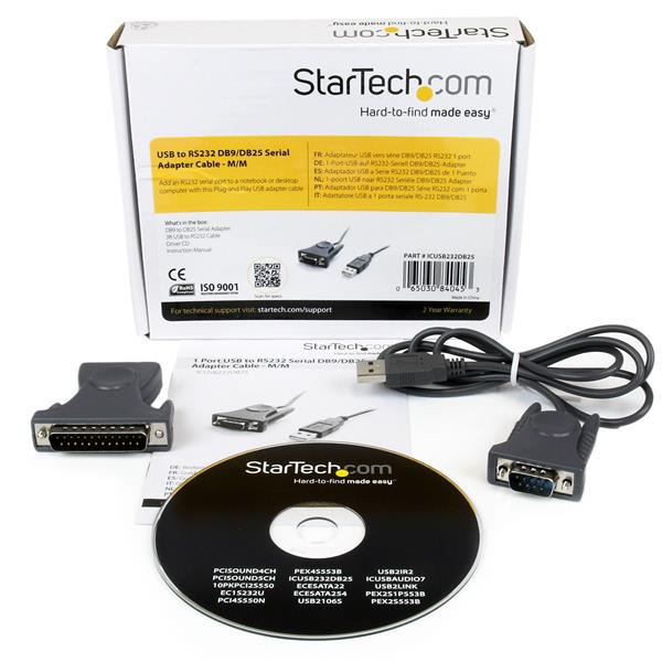 StarTech PCI2S550 2-Port PCI RS232 Serial Adapter Card