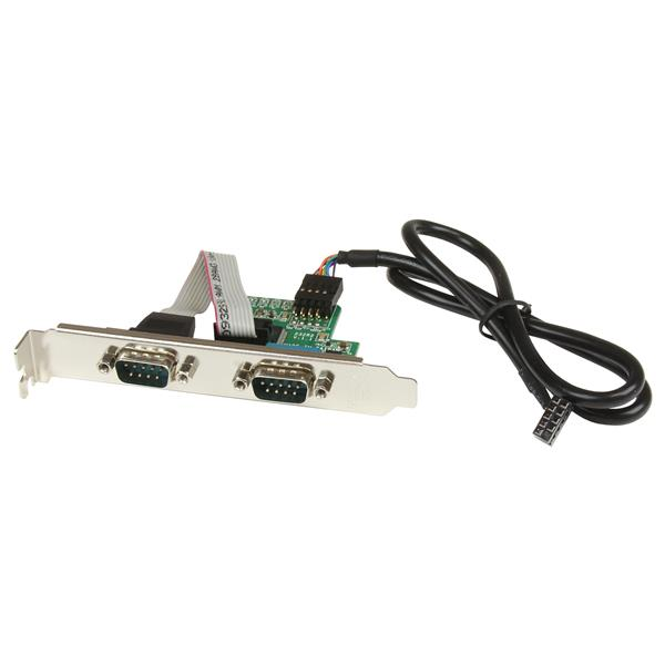 Thumbnail 1 For 24in Internal USB Motherboard Header To 2 Port Serial RS232 Adapter