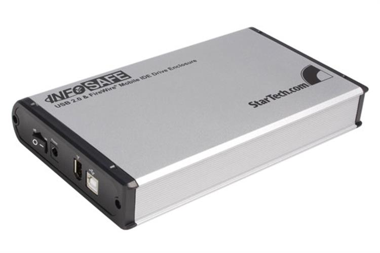 3.5in Silver FireWire 400 USB 2.0 to IDE External Hard Drive ...