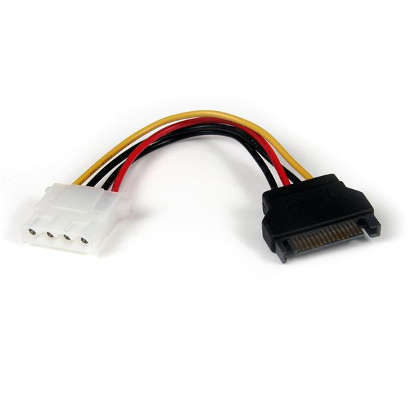 Sata To Lp4 Power Cable Adapter 6in Startech Com
