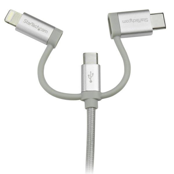 Lightning Or Usb C Or Micro Usb To Usb Cable 1 M 3 Ft