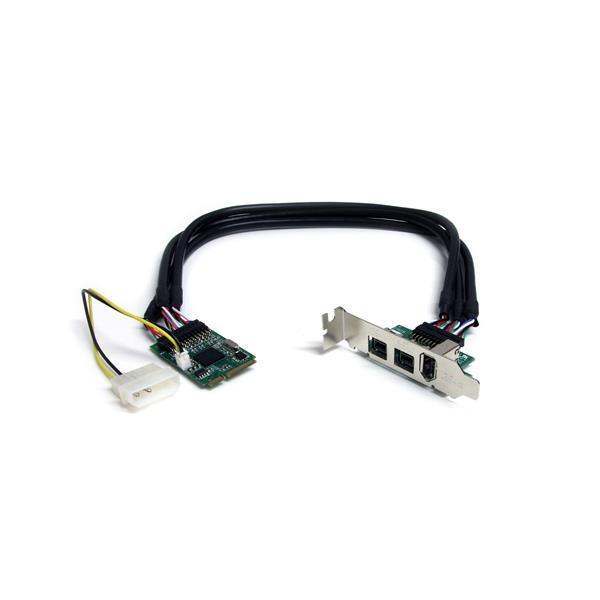 Mini PCIe FireWire Card - 2x FireWire 800 | 1x FireWire 400 ...
