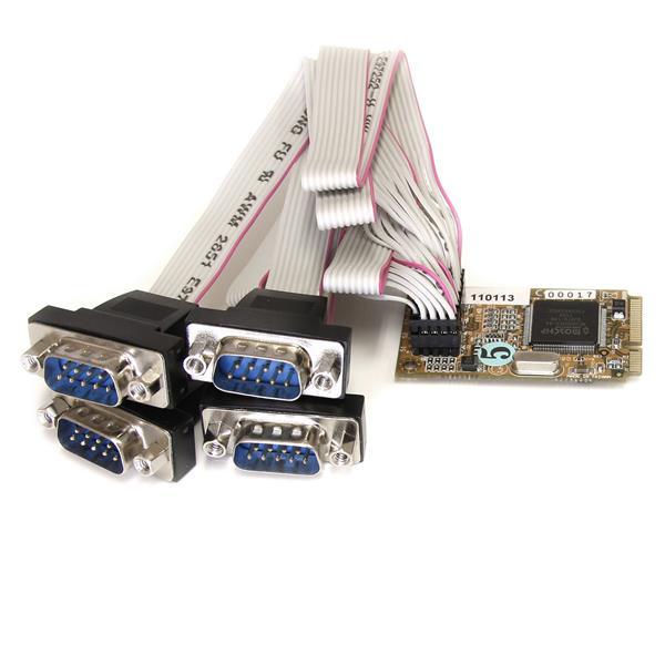 4 Port RS232 Mini PCI Express Serial Card w/ 16650 UART