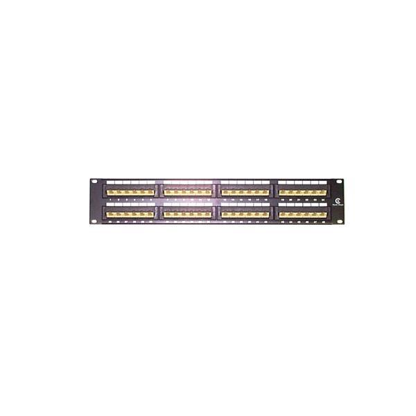 2u 48 Port Rackmount Cat5e Patch Panel Network Patch