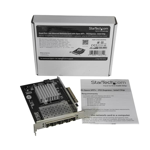 Quad-Port SFP+ Server Network Card - PCI Express - Intel XL710 Chip