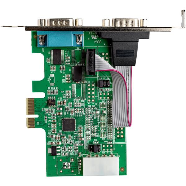 StarTech.com PEX2S952 2 Port Native PCI Express RS232 Serial Adapter Card with