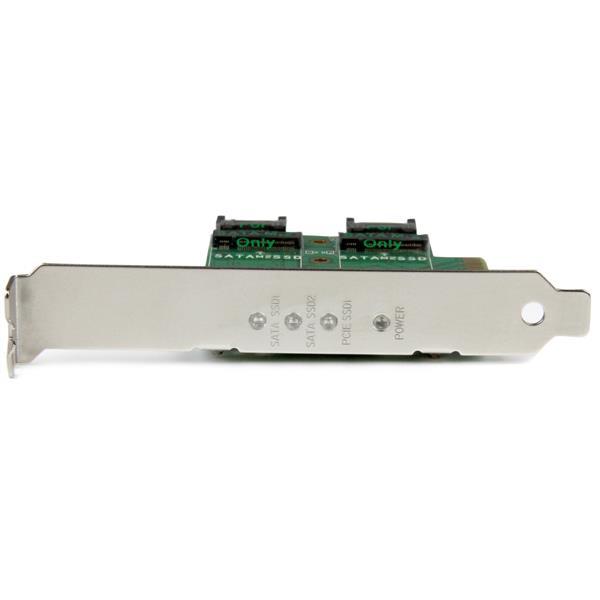 3-Port M 2 SSD (NGFF) Adapter Card - 1 x PCIe (NVMe) M 2, 2 x SATA III M 2  - PCIe 3 0