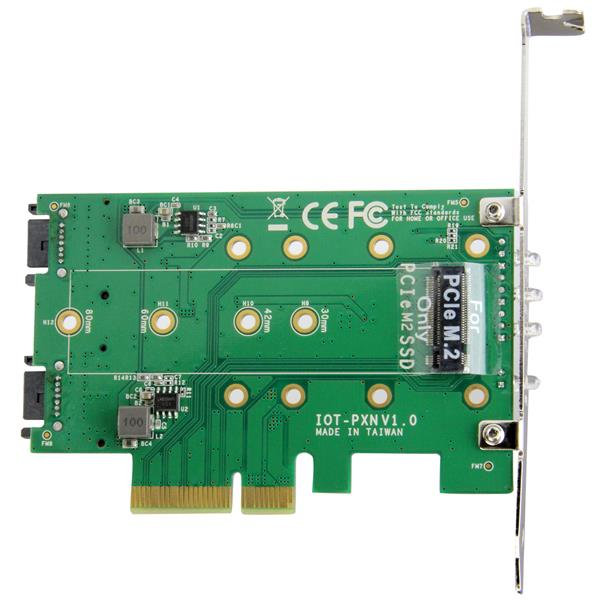 M.2 StarTech.com 3-Port M.2 SSD NVMe Adapter Card 1 x PCIe 2 x SATA NGFF