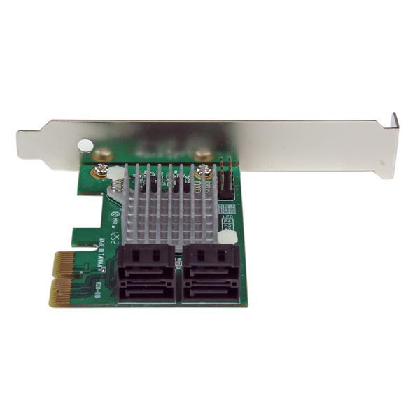 PCI Express SATA III Controller Card | 4-Port PCIe SATA 6Gbps