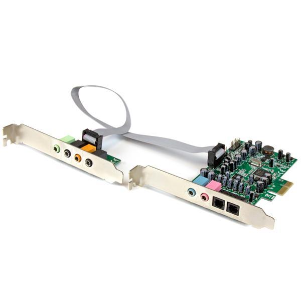 carte son pci express PCIe 7.1 Channel Surround Sound Card   SPDIF Audio | StarTech.com