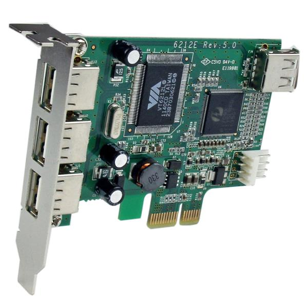 USB 2.0 card - 4 port PCI Express USB Card - WHQL certified ...