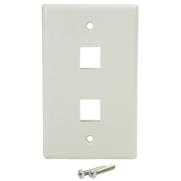 dual outlet universal wall plate network wall plates startech