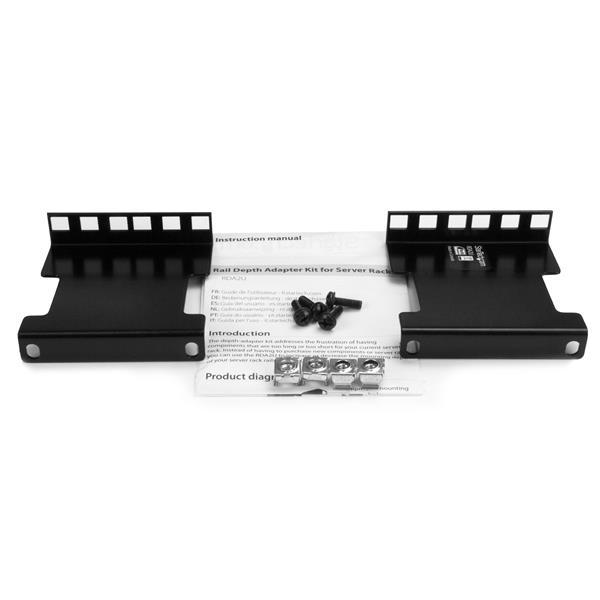 2U Server Rack Depth Extender Adapter Kit with 4 Adjustment