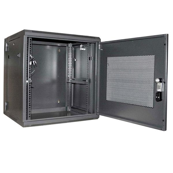 server rack cabinet - 12u | 19in hinged wall mount server rack