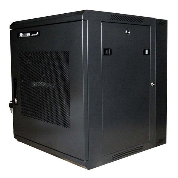Thumbnail 3 for 12U 19in Hinged Wall Mount Server Rack Cabinet w/ Steel  Mesh Door - Server Rack Cabinet - 12U 19in Hinged Wall Mount Server Rack