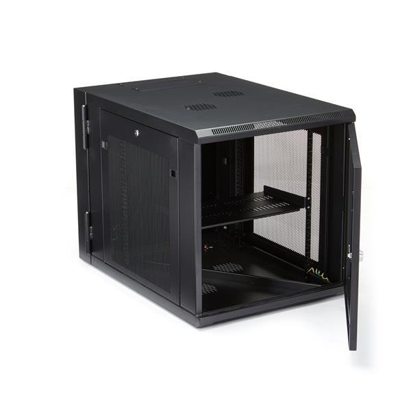 "12u wall-mount server rack cabinet - 32"" deep, hinged | startech"