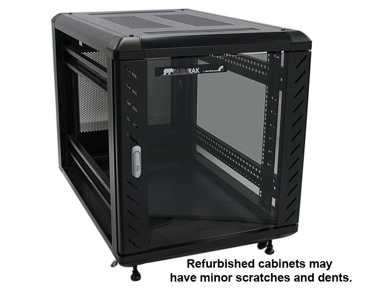 Thumbnail 3 For Refurbished 12U 36in Knock Down Server Rack Cabinet With  Casters