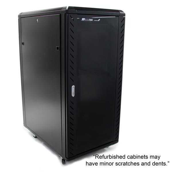 Refurbished 25U 36in Knock Down Server Rack Cabinet With Casters StarTech C