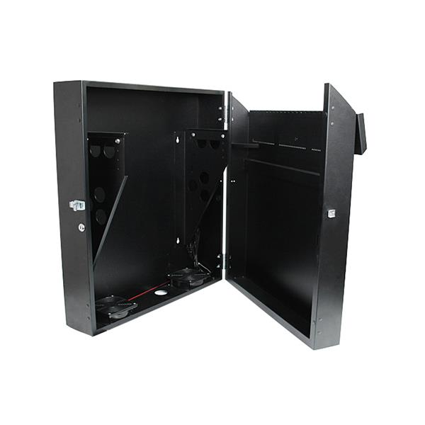 Server Rack - 4U 19in Secure Horizontal Wall-Mountable Server Rack ...