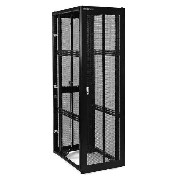 Thumbnail 1 for 42U 36in Black Server Rack Cabinet w/ Mesh Door - No Side  sc 1 st  StarTech.com & 42U 36in Server Rack Cabinet (no Sides) | Enclosed Server Racks and ...