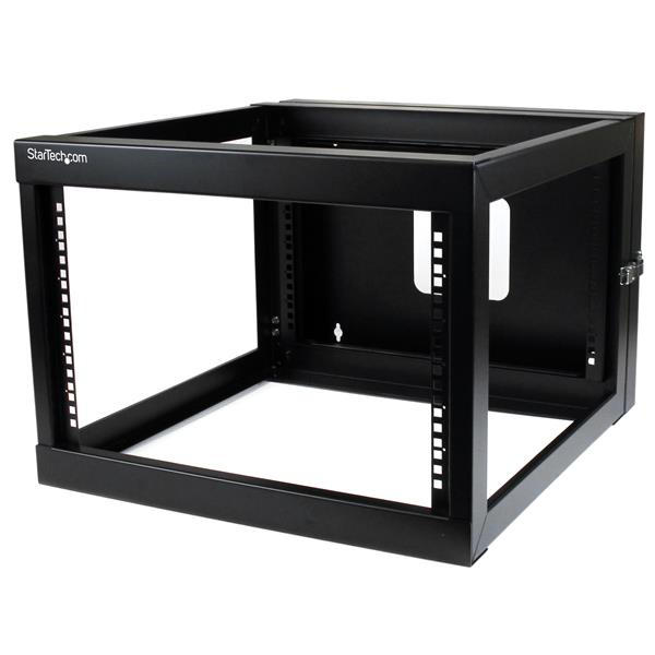 Thumbnail 1 for 6U 22in Depth Hinged Open Frame Wall Mount Server Rack - 6U 22