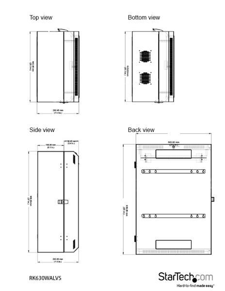6U Vertical Server Cabinet - 30 in  depth