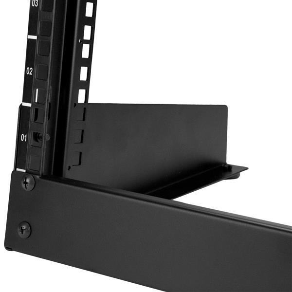 8u Desktop Rack 2 Post Open Frame Rack Startech Com