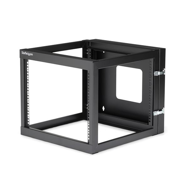 Large Image for 8U 22in Depth Hinged Open Frame Wall Mount Server Rack
