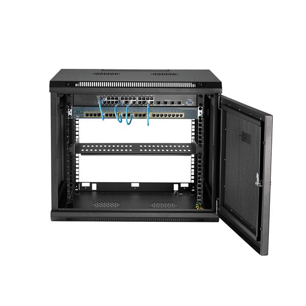 9u Standard Server Network Cabinet Enclosure Durable Data Comms Wall Rack Patch Panel Switch PDU LAN Cable Management 9u