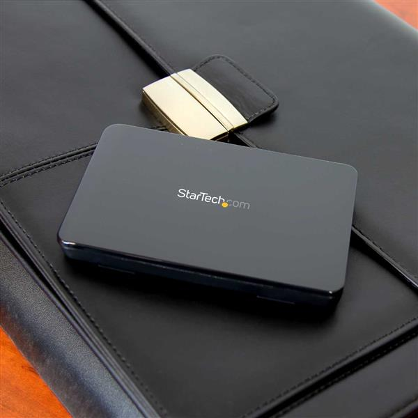 StarTech.com USB 3.1 Lightweight Plastic Tool-free Enclosure for 2.5 SATA Drives Portable Data Storage 10Gbps Ultra-fast