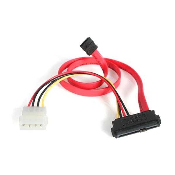 Large Image for 45cm (18in) SAS 29 Pin to SATA Cable with LP4 Power