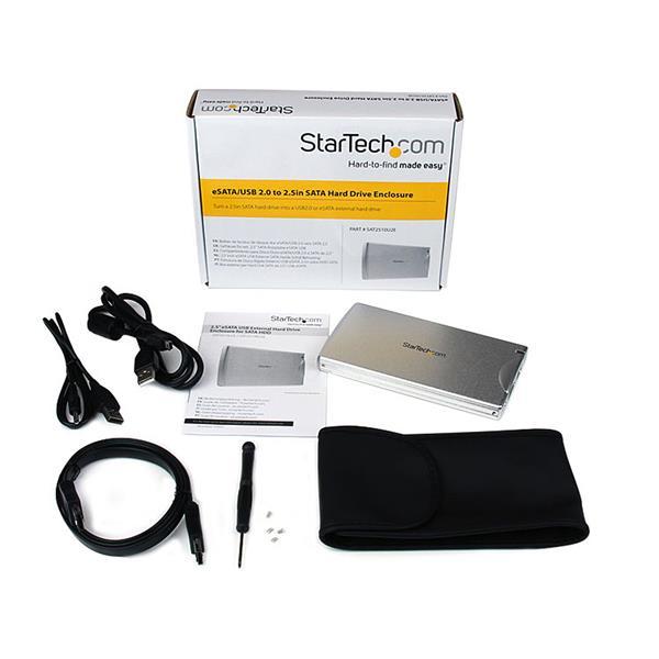 """Startech.com S251SMU33EP USB eSATA 2.5/"""" HDD Case"""