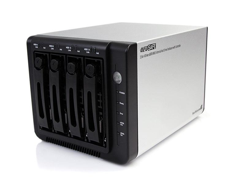 External Raid Multi Bay Hard Drive Enclosure Esata 4
