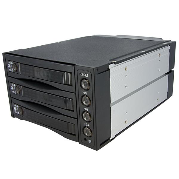 Large Image for Hot Swap SATA/SAS Backplane RAID Bays – 3 Hard Drive Mobile Rack