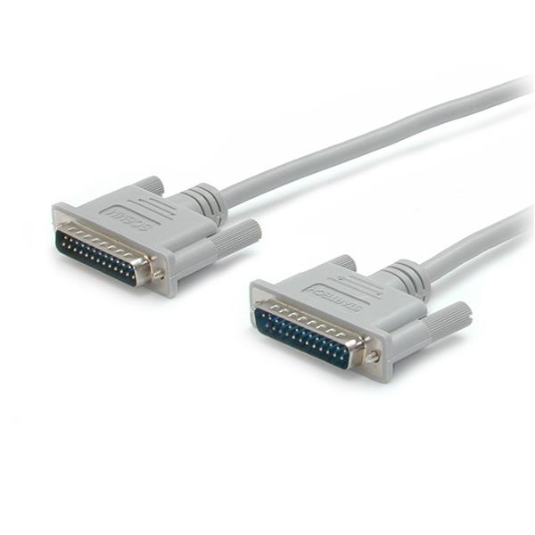 Large Image for 10 ft Straight Through Serial Parallel Cable - DB25 M/M